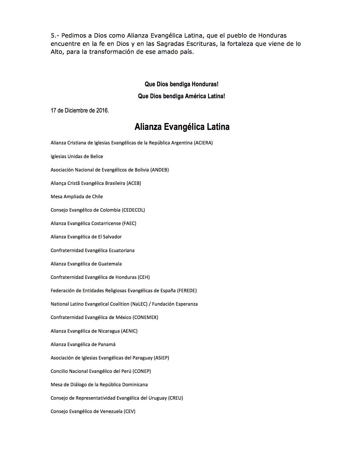 AEL COMUNICADO POR ATENTADO EN HONDURAS ACIERA2