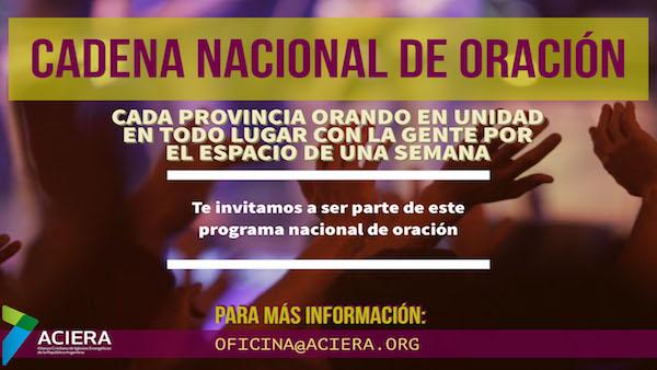 TERCERA EDICIÓN DE LA CADENA NACIONAL DE ORACIÓN  ACIERA