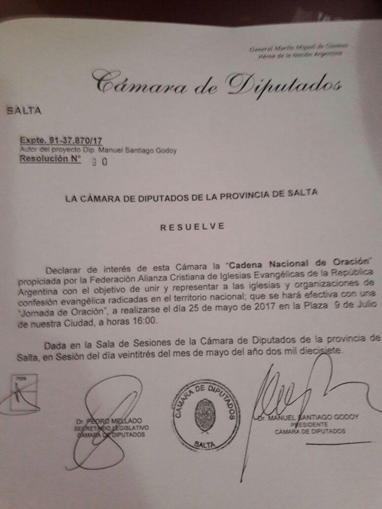 DECLARACION DE INTERES SALTA 2