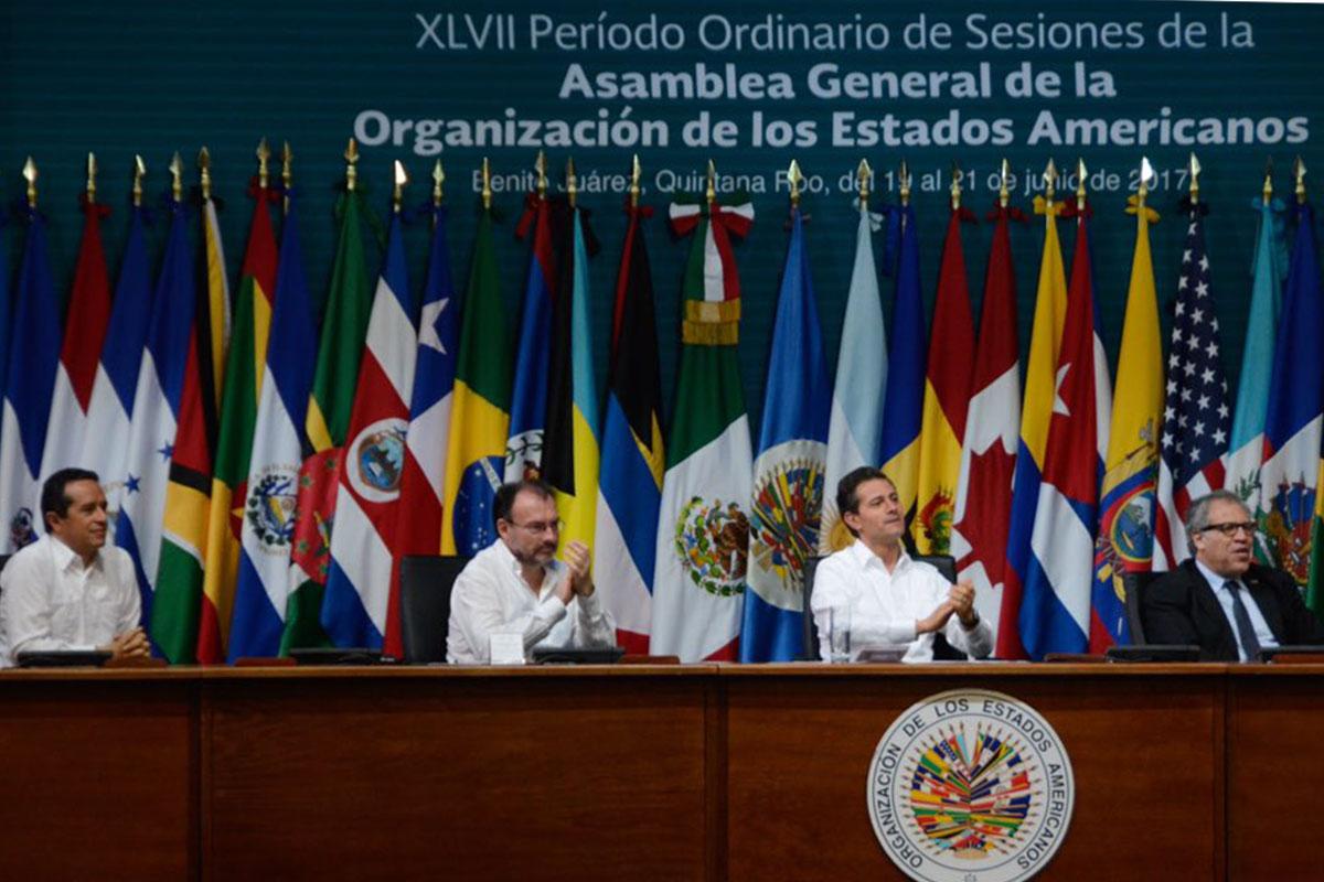 PRESENCIA DE AEL JOVEN EN LA ASAMBLEA DE LA OEA